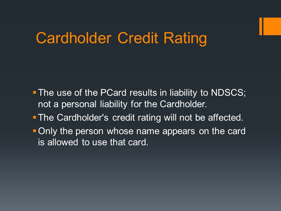 Cardholder Credit Rating