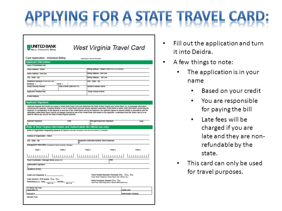 Applying for a State Travel Card: