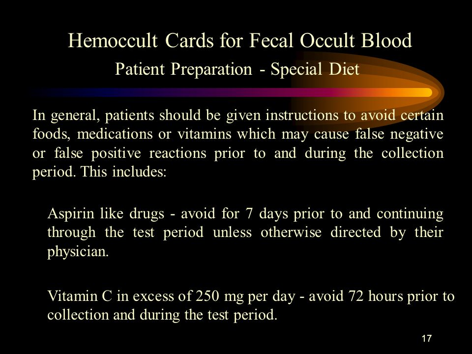 Hemoccult Cards For Fecal Occult Blood Training Presentation Ppt