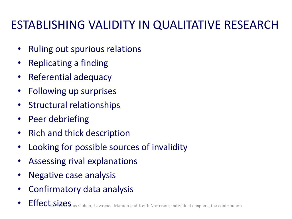 Validity And Reliability Ppt Download Looking For Contributors 19 Establishing In Qualitative Research