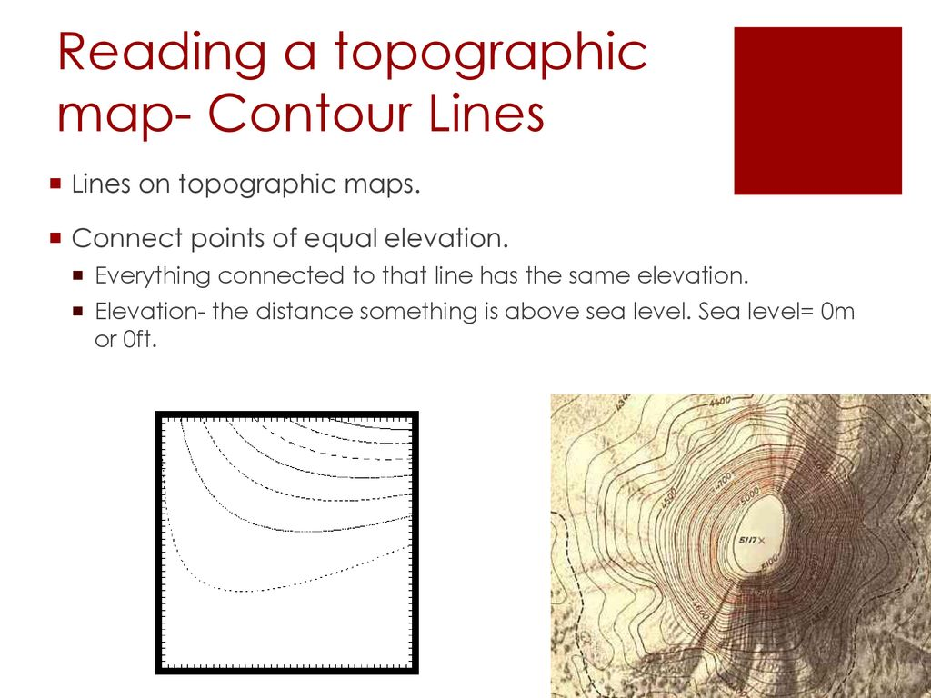 Contour Lines On A Topographic Map Connect.Unit 1 Structure Of The Earth Ppt Download