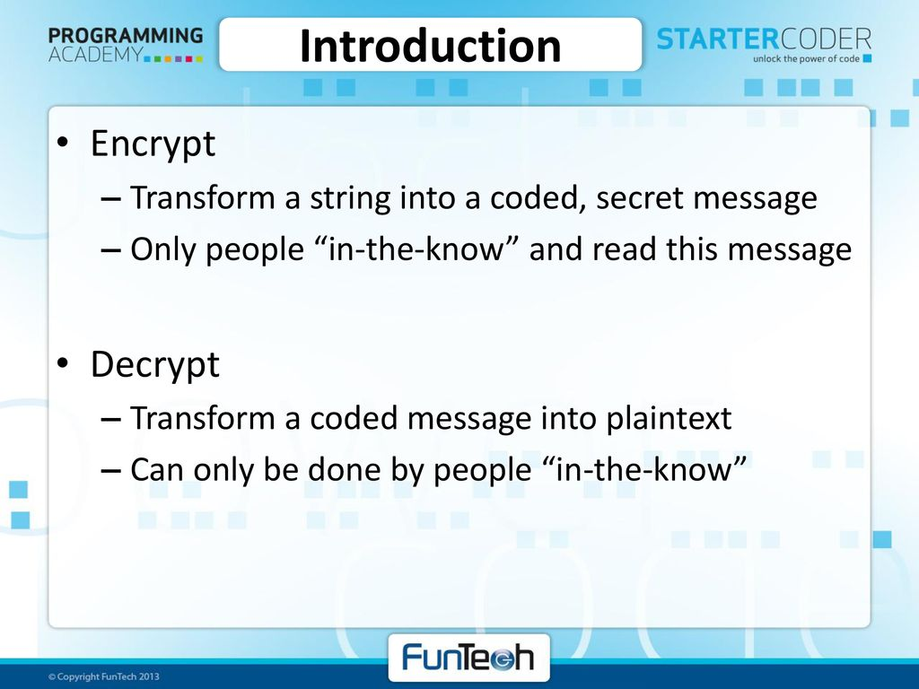 Encryption and Decryption - ppt download