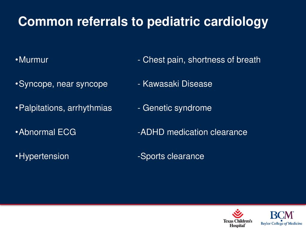 When to Refer to Pediatric Cardiology - ppt download