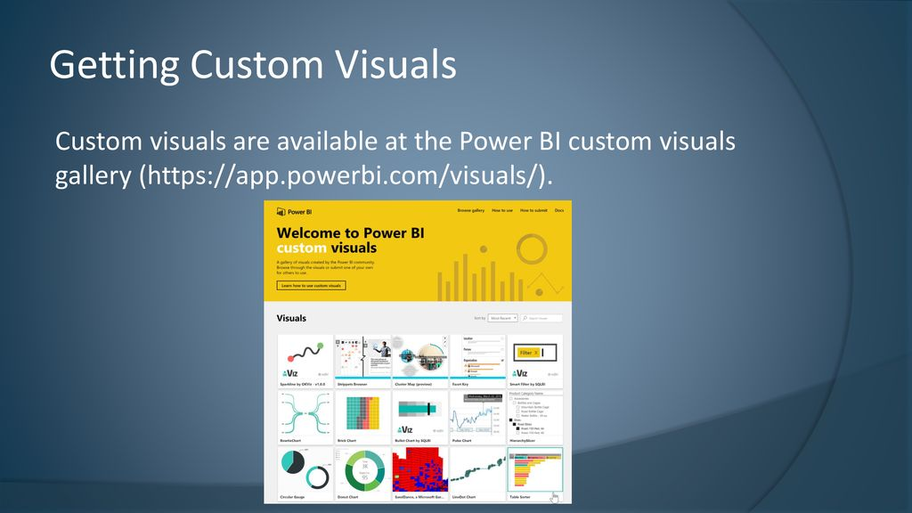 Custom Visuals with Power BI - ppt download