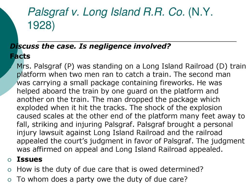 palsgraf v long island railroad co 1928