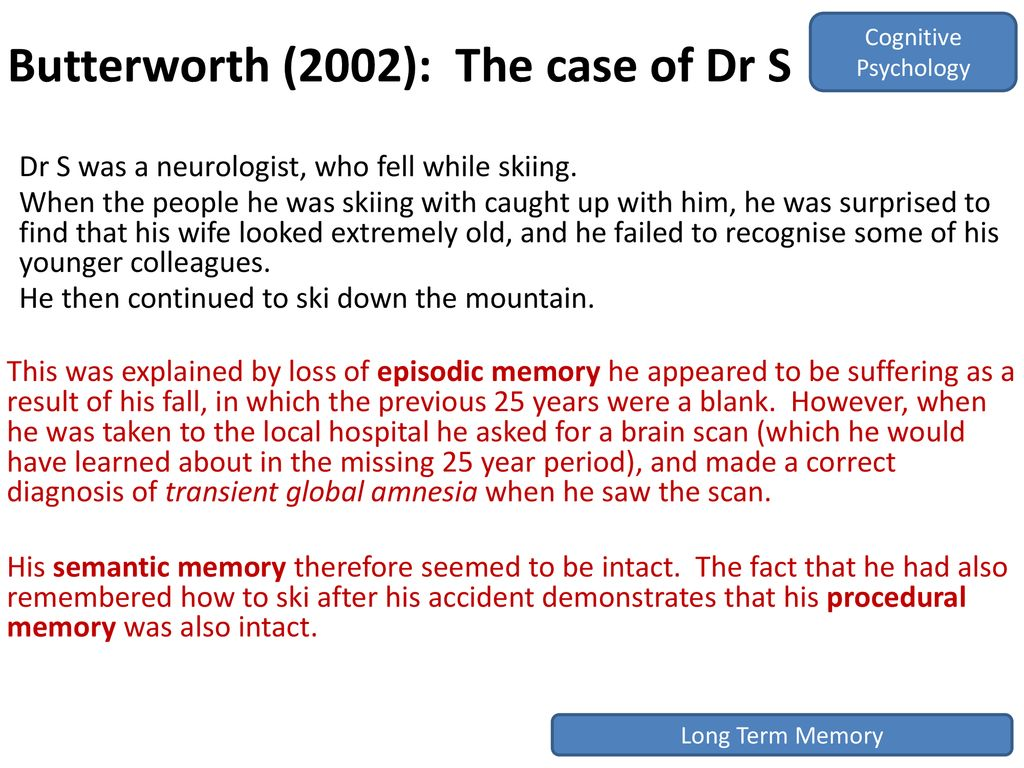Working Memory Model Tulving, ppt download