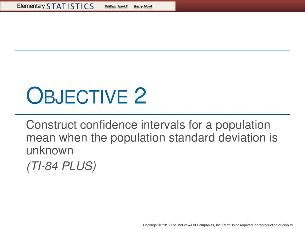 Confidence Intervals for a Population Mean, - ppt download