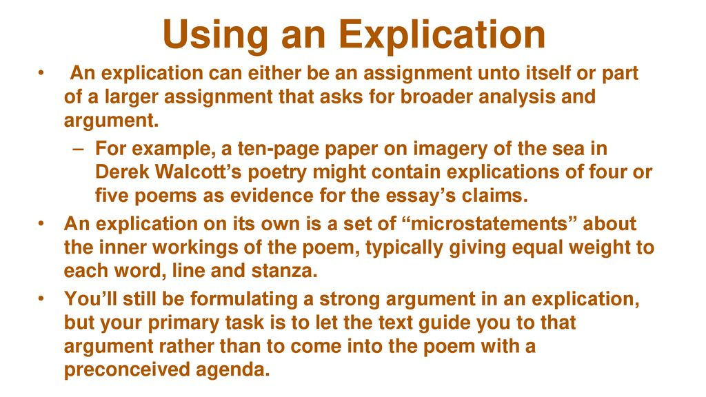 Poetry Explication  Ppt Download Using An Explication