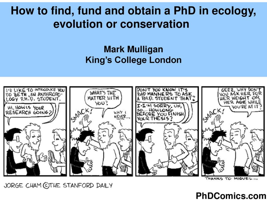How to find, fund and obtain a PhD in ecology, evolution or