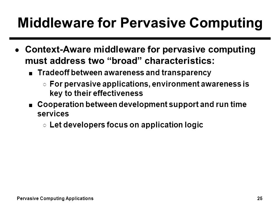 Pervasive computing.