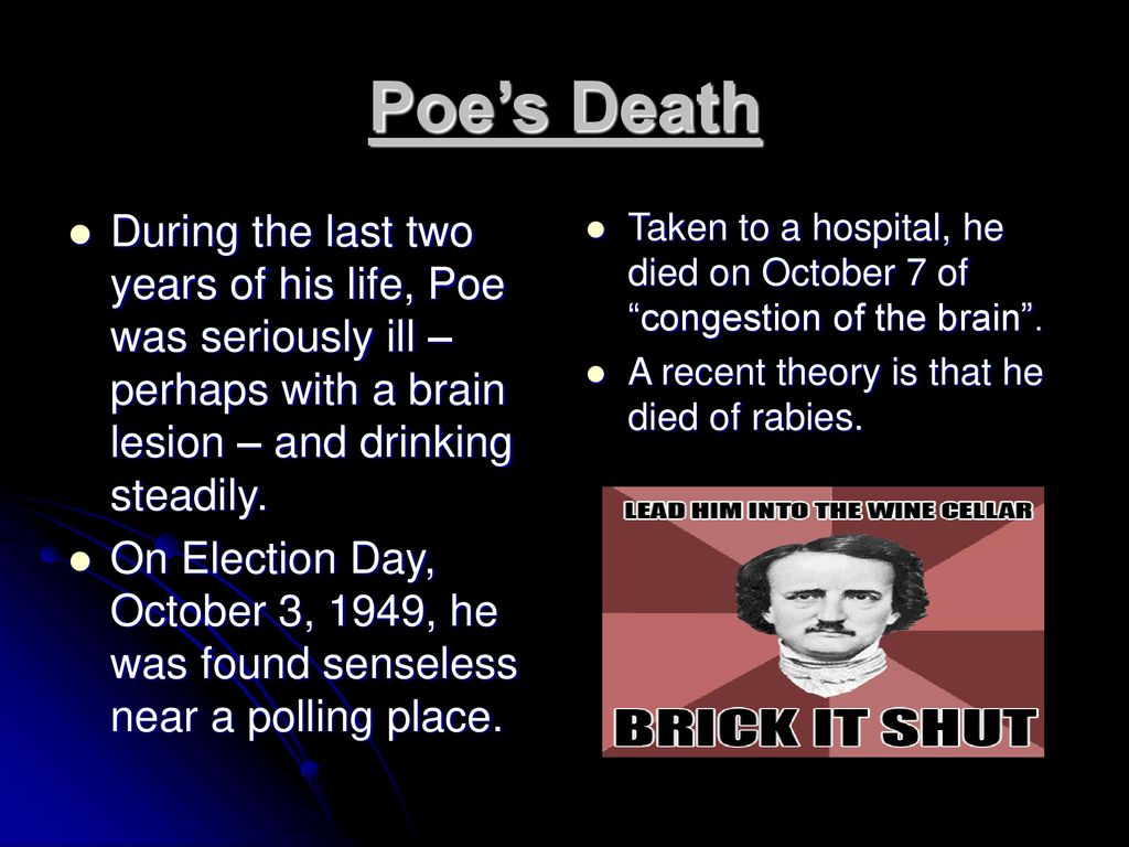 poe died of rabies