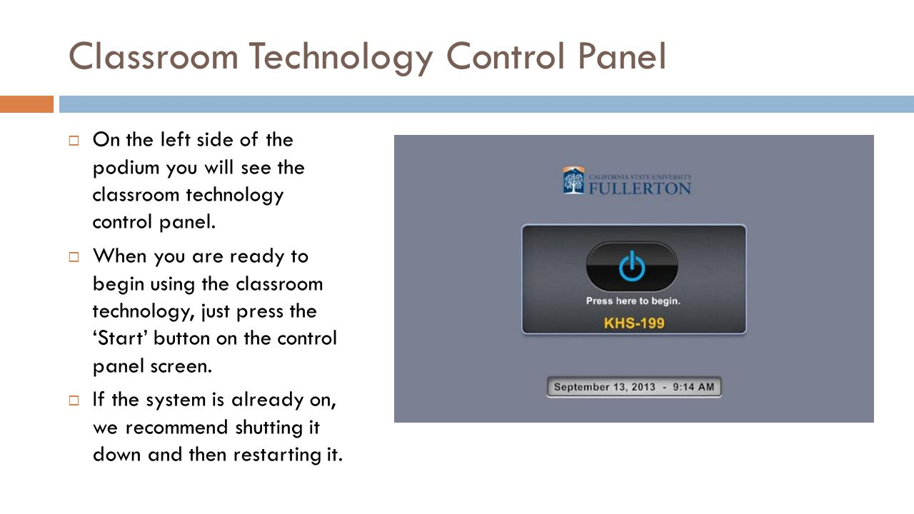 Smart Classroom Orientation: KHS-199 Lecture Hall - ppt download