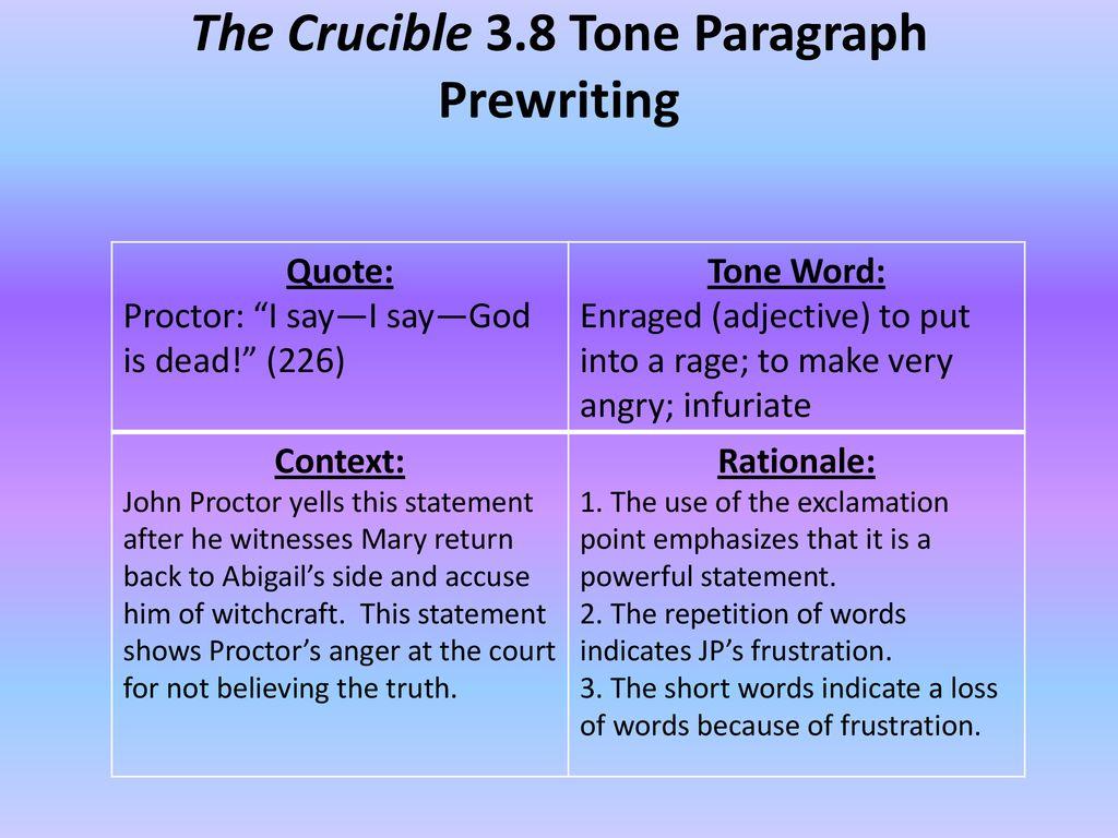 tone paragraph