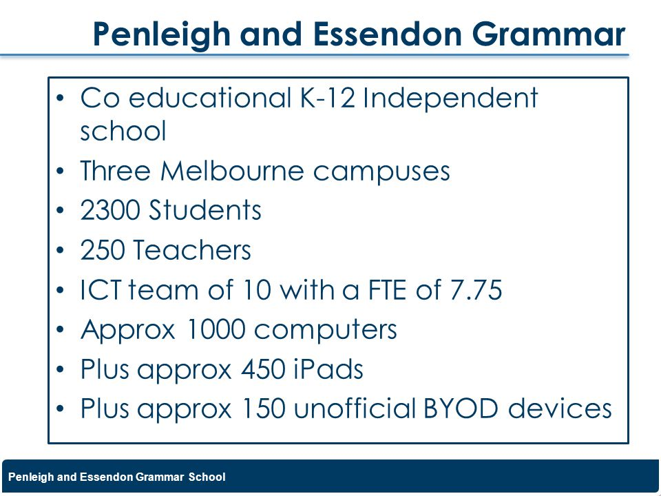 Penleigh and Essendon Grammar