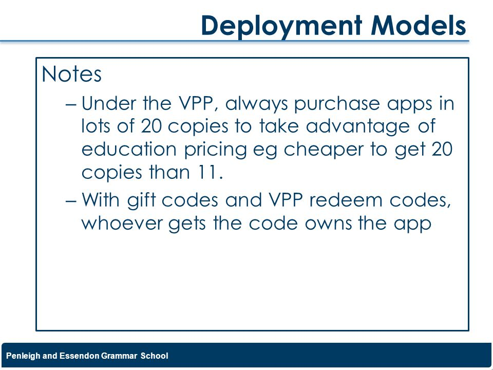 Deployment Models Notes