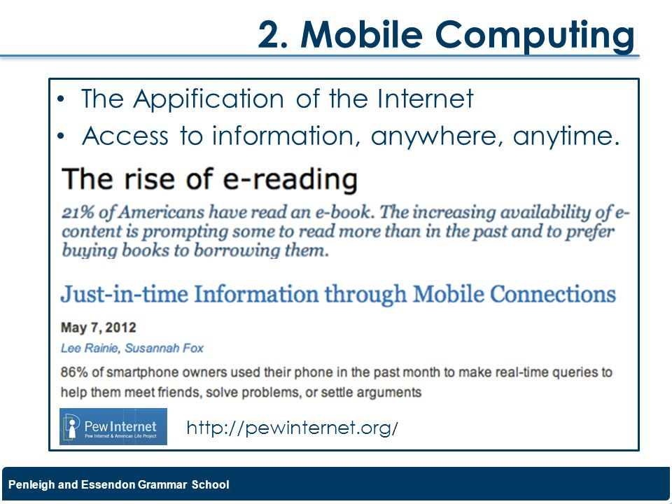 2. Mobile Computing The Appification of the Internet