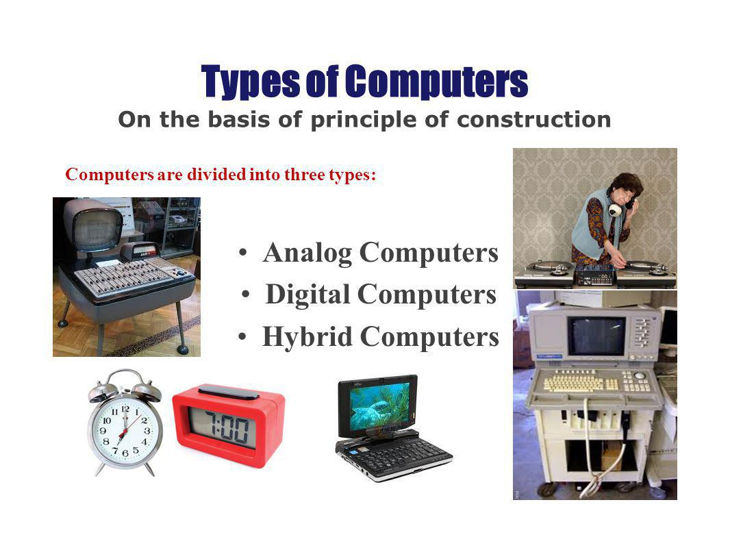 Types Of Computers On The Basis Of Principle Of
