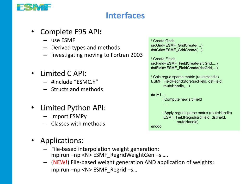 ESMF Regridding Update - ppt download