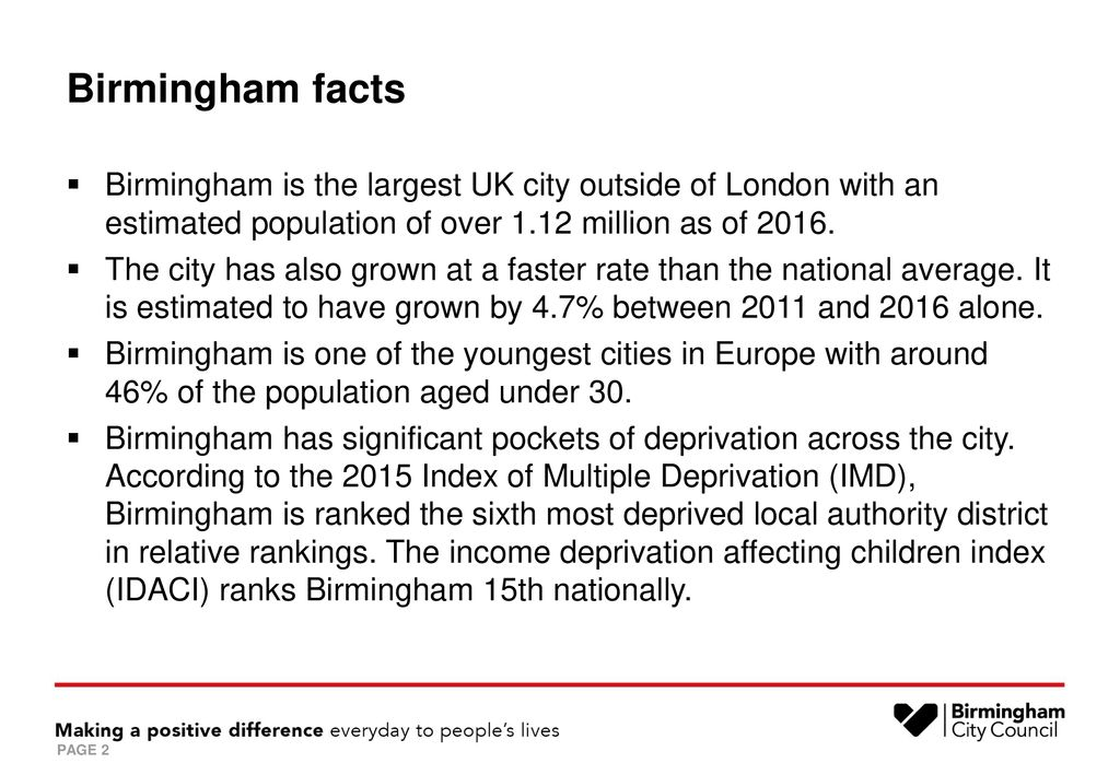 Early Years The Current Landscape in Birmingham - ppt download