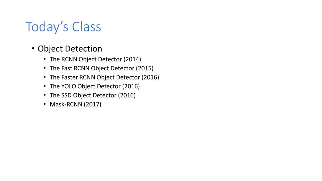 Object Detection + Deep Learning - ppt download