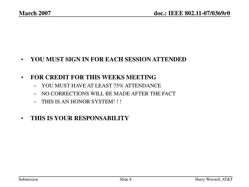 YOU MUST SIGN IN FOR EACH SESSION ATTENDED