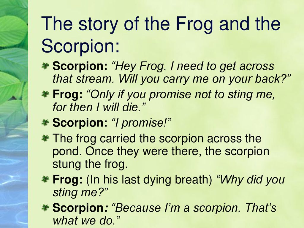 Story frog the scorpion and the The Frog
