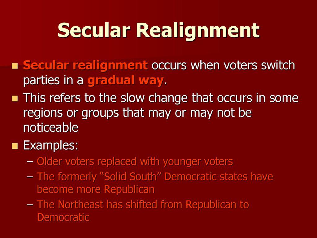 secular realignment