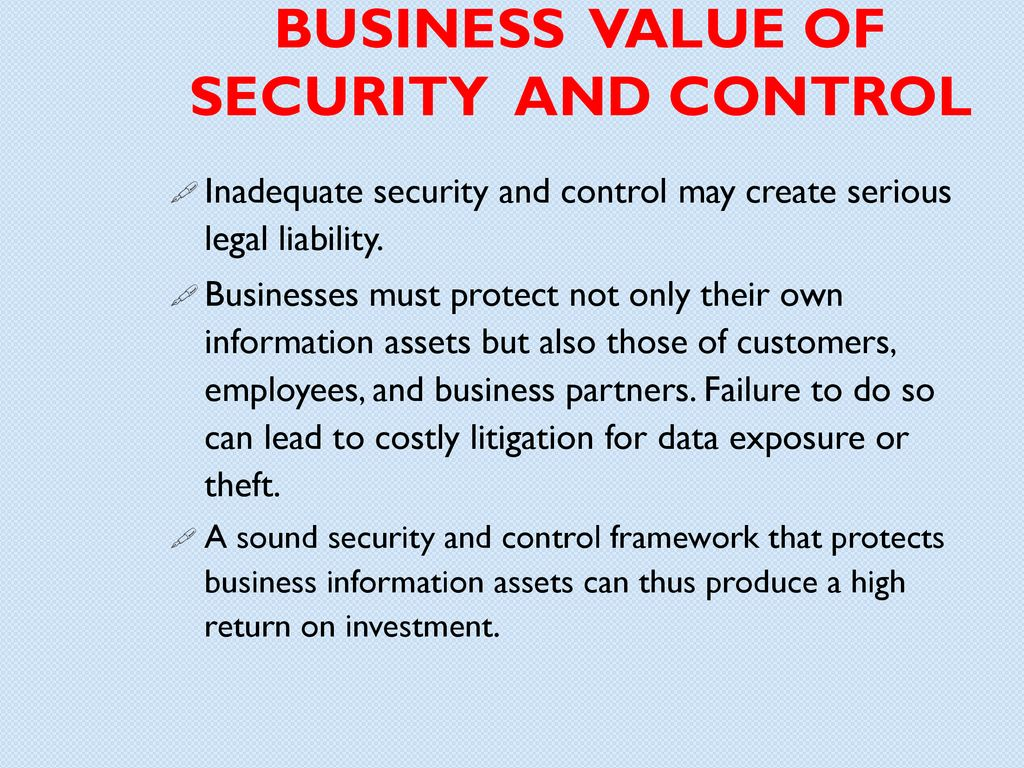 Information Systems Security And Control Ppt Download