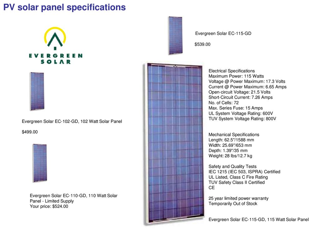 Power Supply Group Presentation March Ppt Download Kaneka Solar Panel Wiring Diagram Evergreen Ec 115 Gd