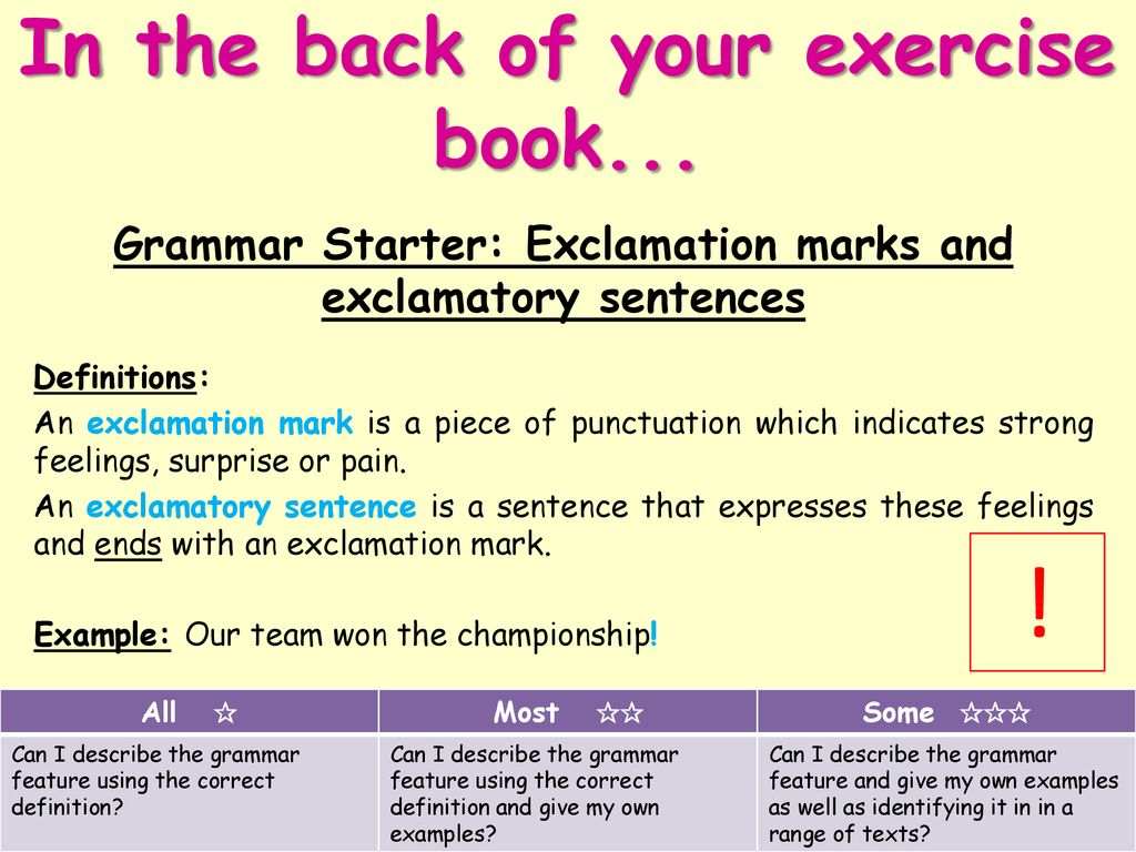 what is the definition of exclamatory sentence