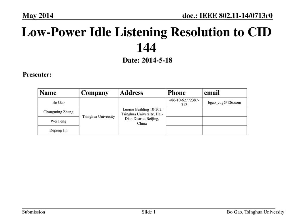 Low-Power Idle Listening Resolution to CID ppt download
