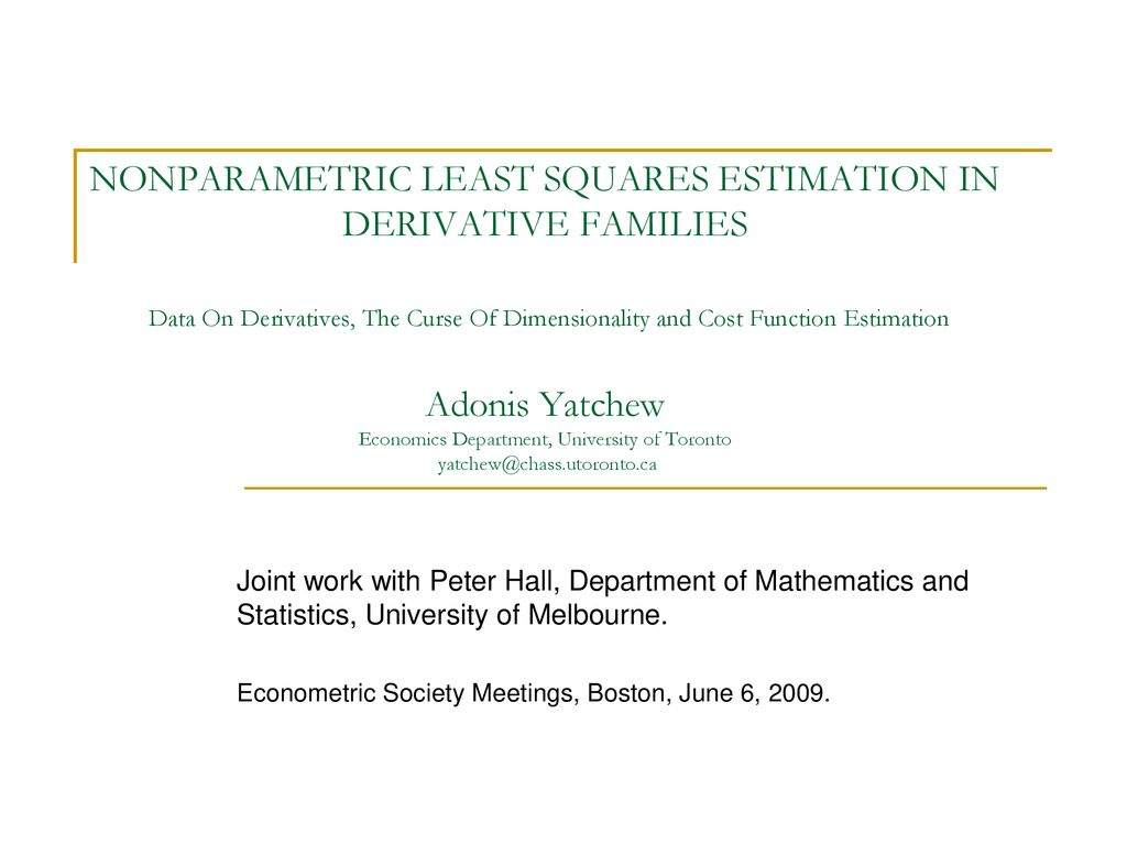Nonparametric Functional Estimation