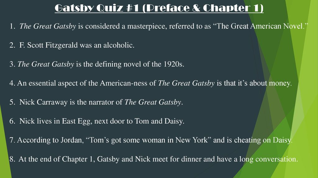 the great gatsby preface