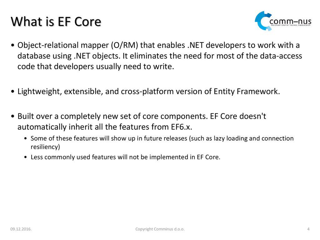 Entity Framework Core (EF Core) - ppt download