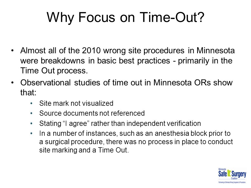 Why Focus on Time-Out