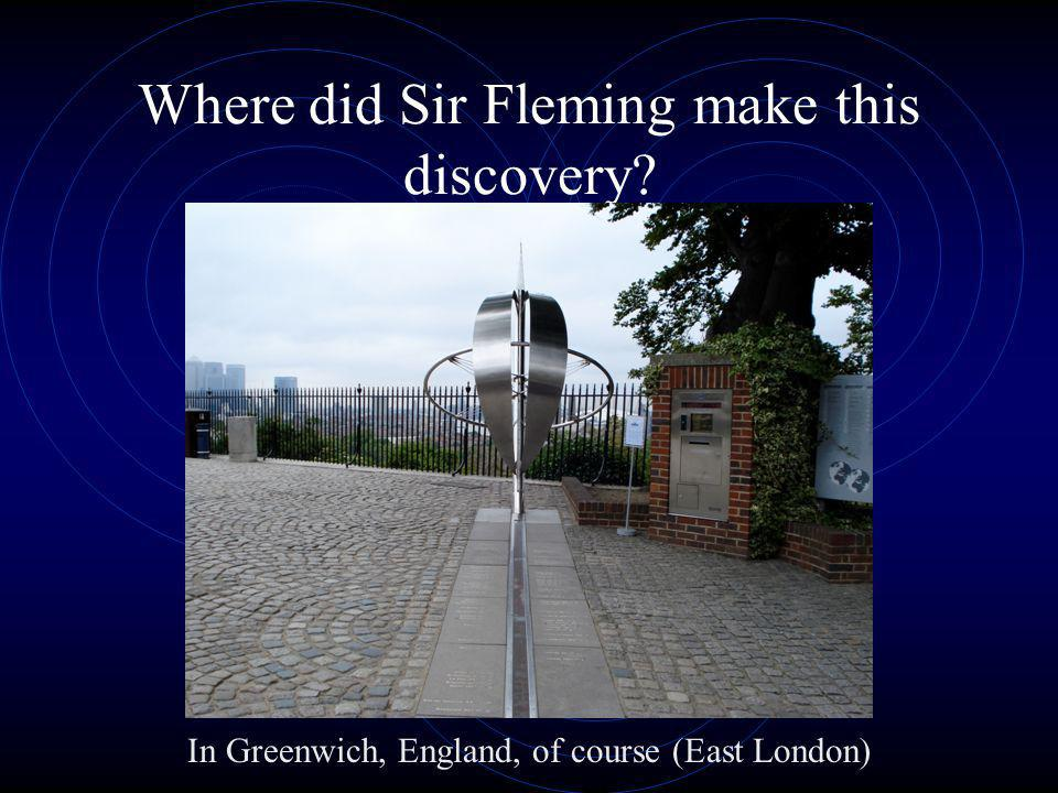 Where did Sir Fleming make this discovery