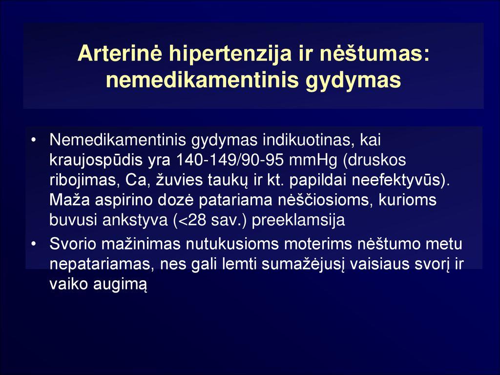 kraujospūdžio mažinimas yra hipertenzija