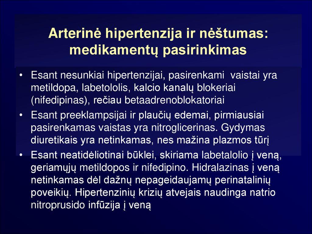 vaistai nuo hipertenzijos nifedipinas