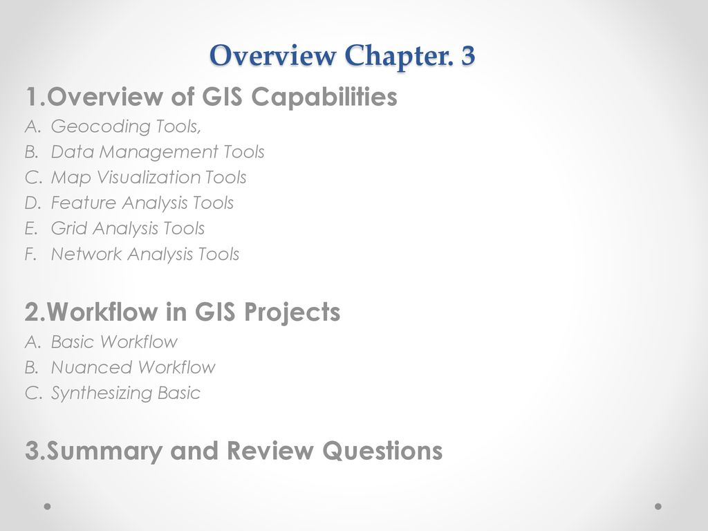 Chapter 3  GIS Decision Support Methods and Workflow - ppt download