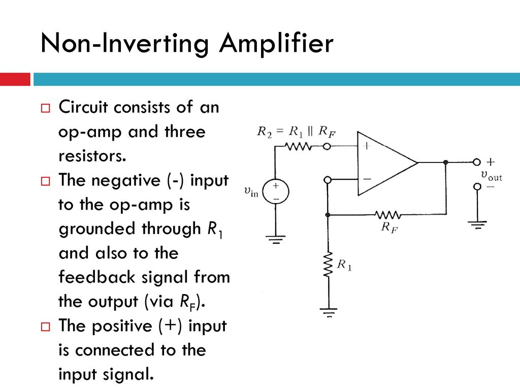 Content Op Amp Application Introduction Inverting Amplifier Ppt Fig 11 Non