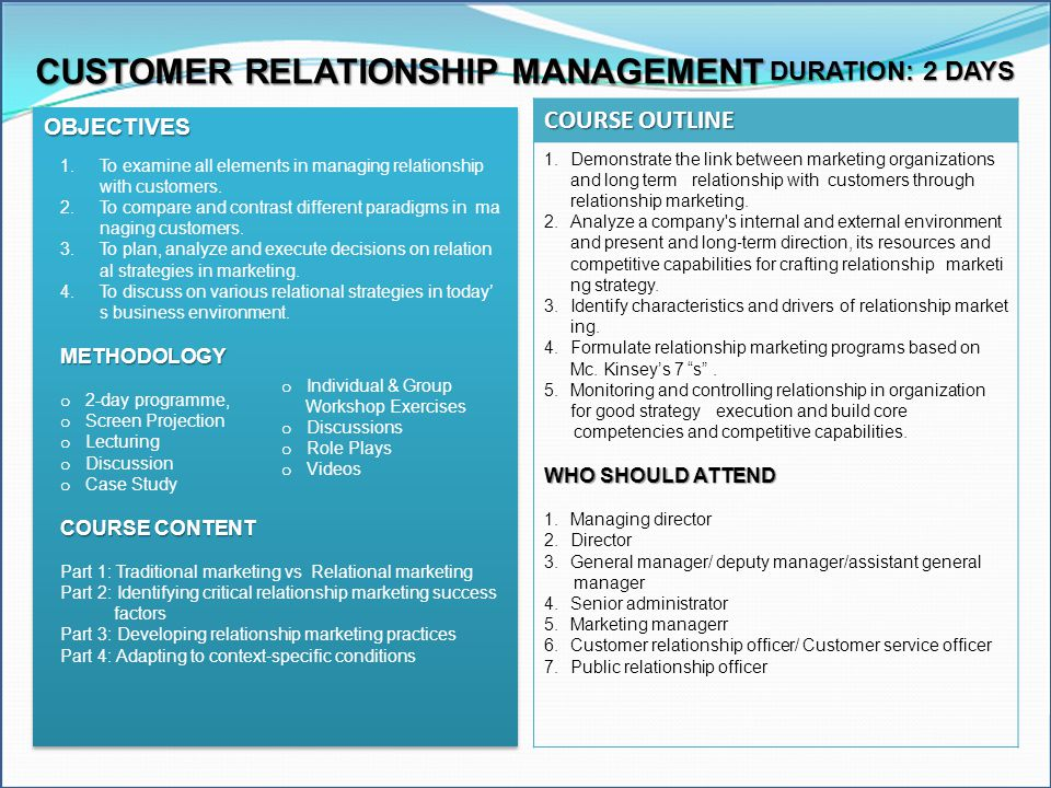 the role of customer relationship management in business administration