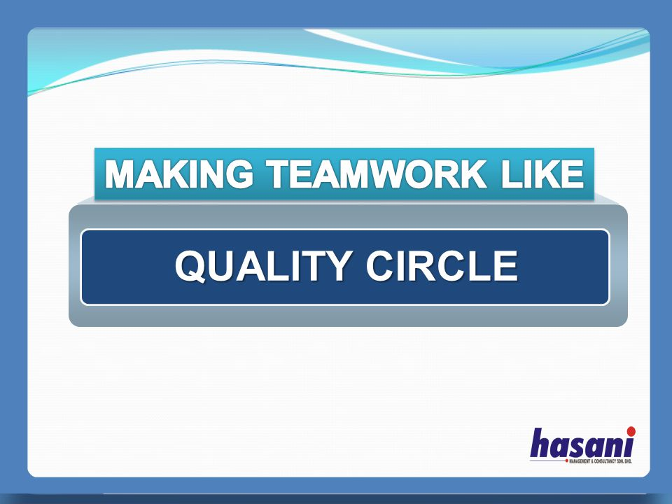 MAKING TEAMWORK LIKE QUALITY CIRCLE PERFECT MANAGER