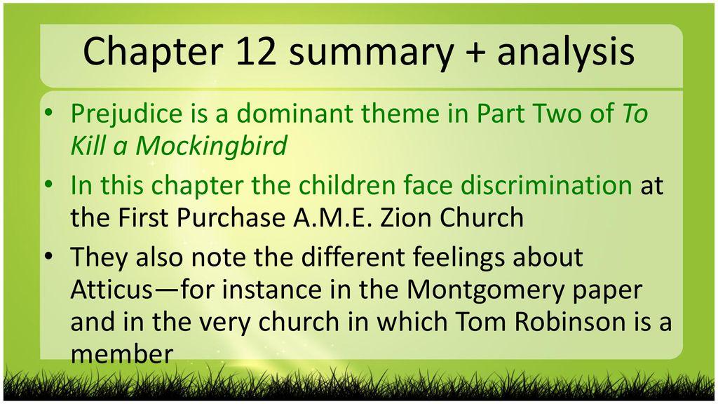 how to kill a mockingbird chapter 12 summary