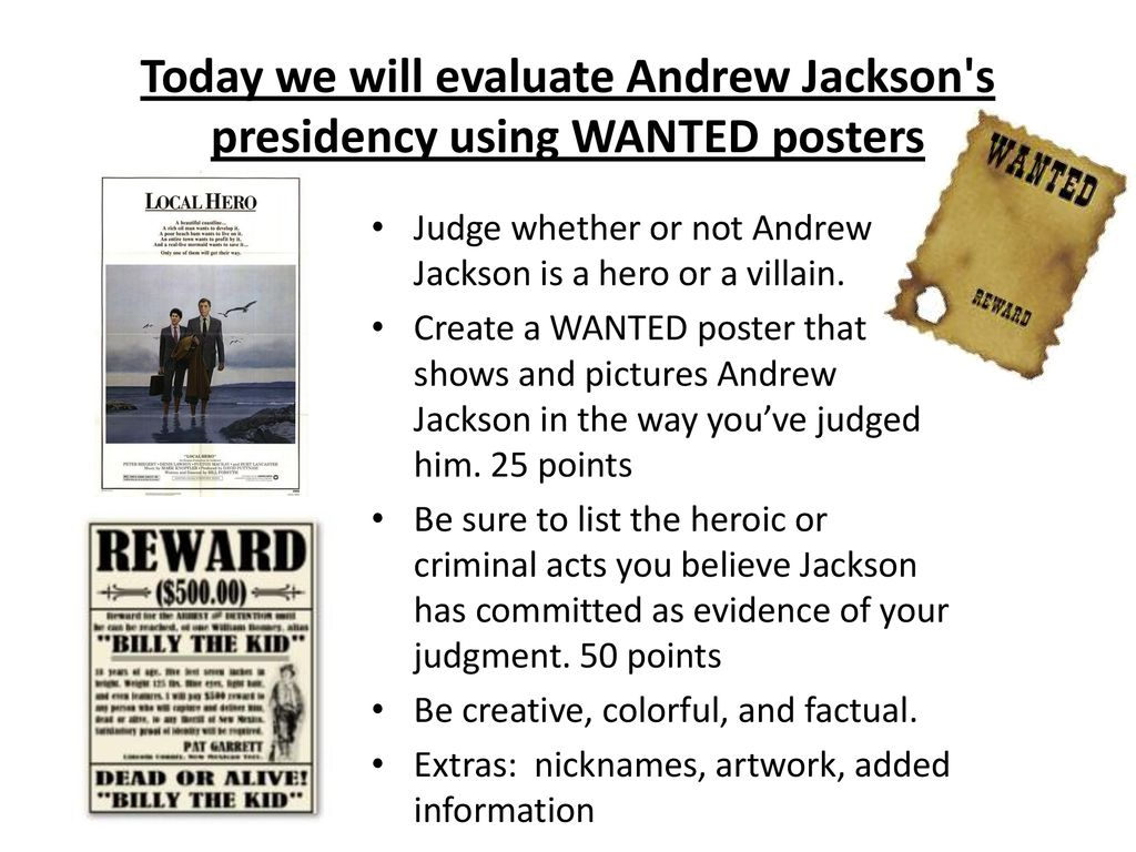 evaluate the presidency of andrew jackson