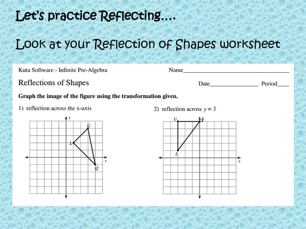 Reflection Math 8 8 22 Ppt Download