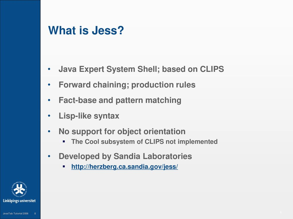 Expert system with jess session 4. 1] introduction to rules part.