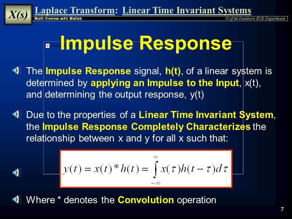 Laplace Transform Math Review with Matlab: - ppt video