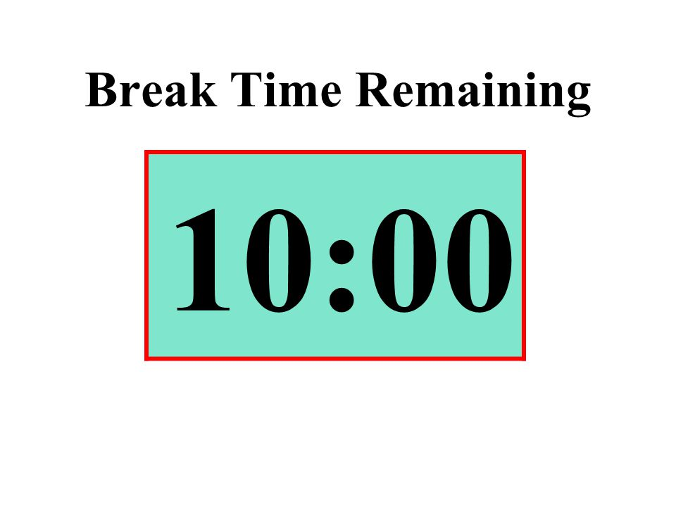 Break Time Remaining 10:00