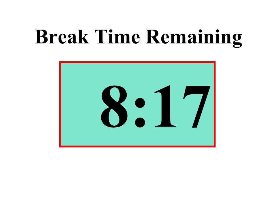 Break Time Remaining 8:17