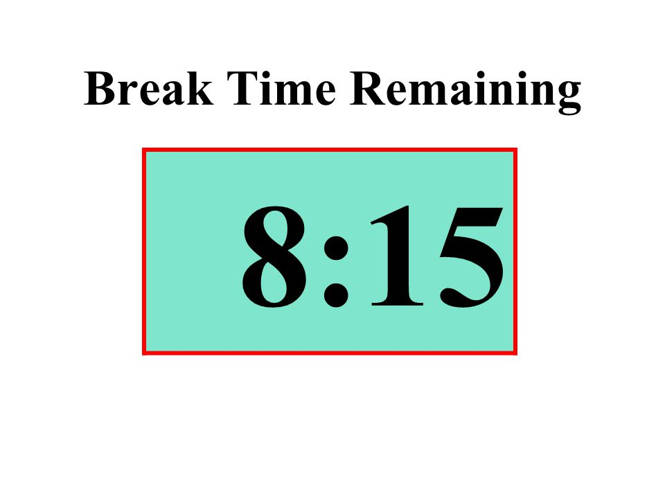 Break Time Remaining 8:15